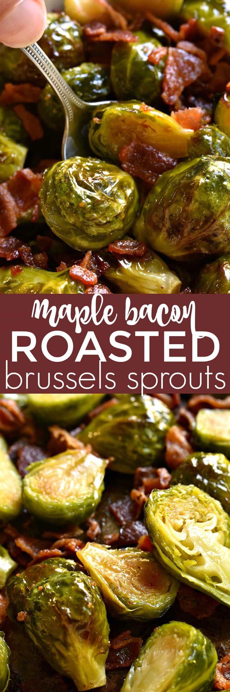 Maple Bacon Roasted Brussels Sprouts | Lemon Tree Dwelling