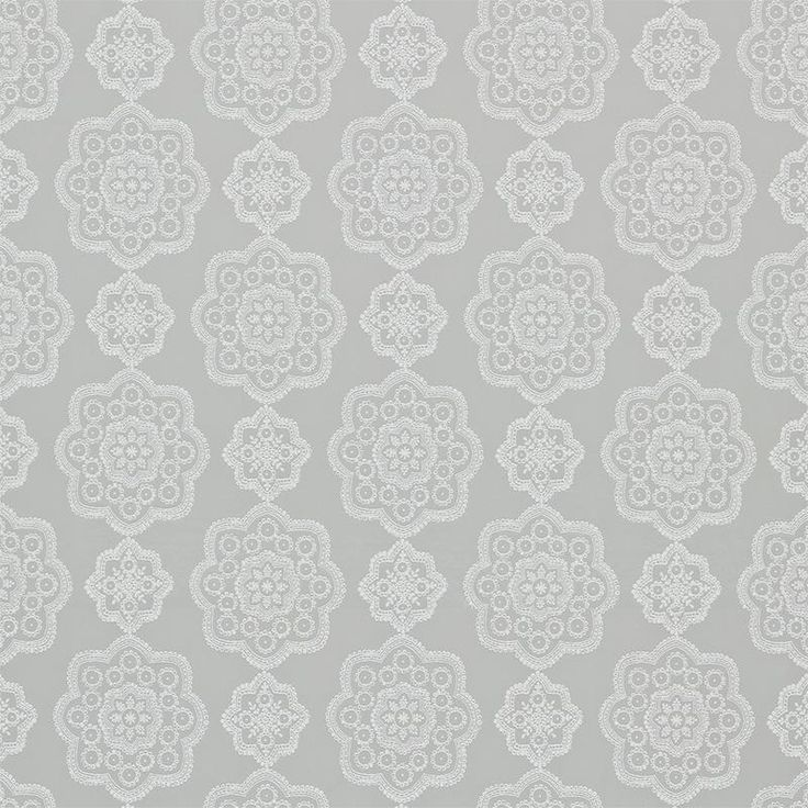 Harlequin Odetta 131574 Oyster fabric from the Purity collection, priced per metre. A stunning lace-inspired emblem