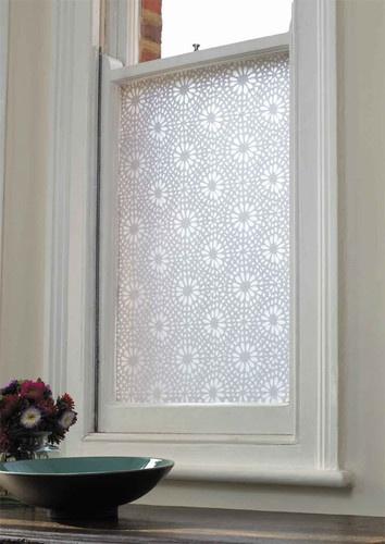 Emma Jeffs White Moroccan Tile Adhesive Film modern window treatments