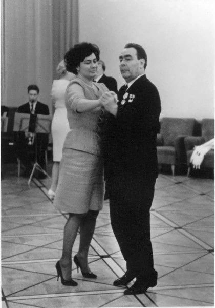 60th anniversary of Leonid Brezhnev. Dance with his daughter.