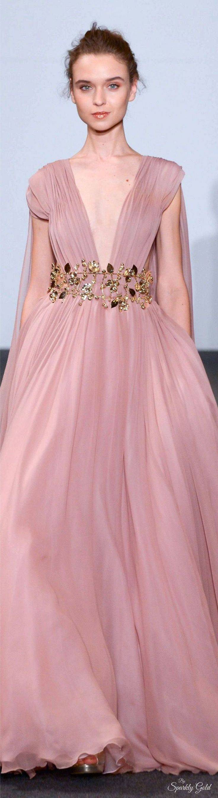 Dany Atrache Spring 2016 Couture jαɢlαdy.  A little skin baring for a wedding dress, but still okay.