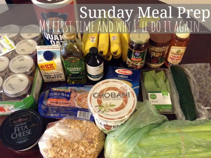 Sunday Meal Prep {my first time and why Ill do it again}