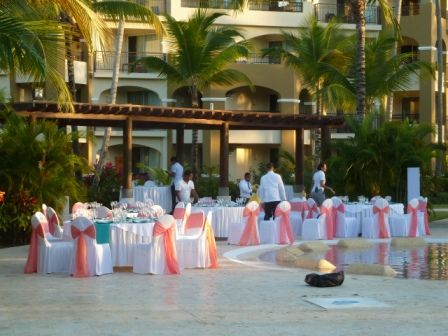 Tables Line The Quiet Pool For Wedding Reception At Now Larimar Pinterest And