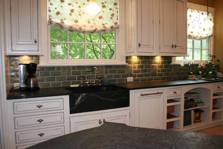 Craftsman Kitchen Tile Backsplash Poppies
