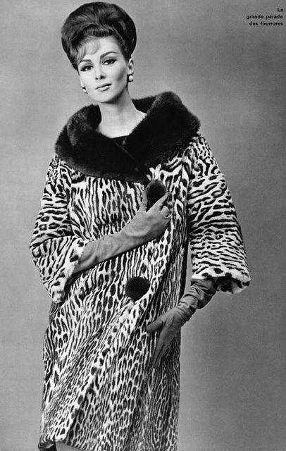 A wildly chic, cozy 1960s fur coat. #vintage #fashion #1960s