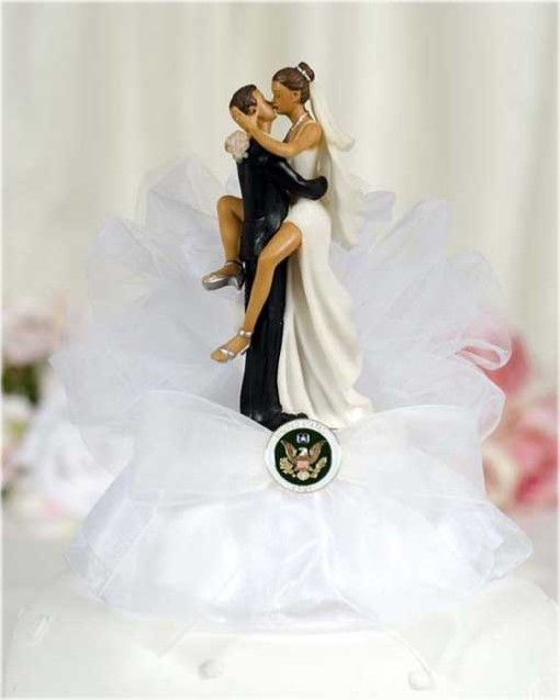 Cute Army Wedding Cake Topper  - me when he finally comes home!!!!  =)