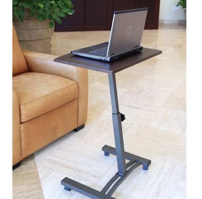 Mobile Laptop Cart Portable Rolling Desk Office Computer