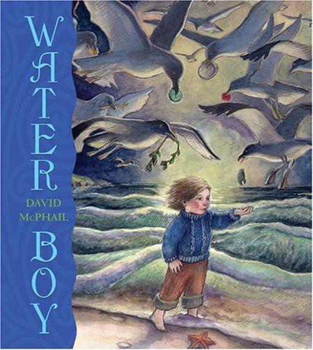 Water Boy by David McPhail http://www.amazon.com/dp/B0058M9S58/ref=cm_sw_r_pi_dp_tRBiub1V083VY  Good for water communion service.