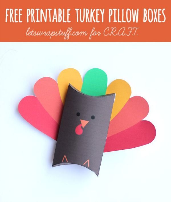 Thanksgiving crafts for kids-- free printable turkey boxes!