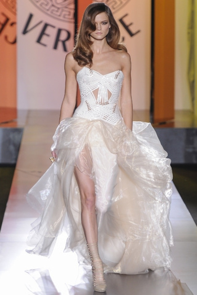 26 best images about versace wedding dress on pinterest for How to become a haute couture designer