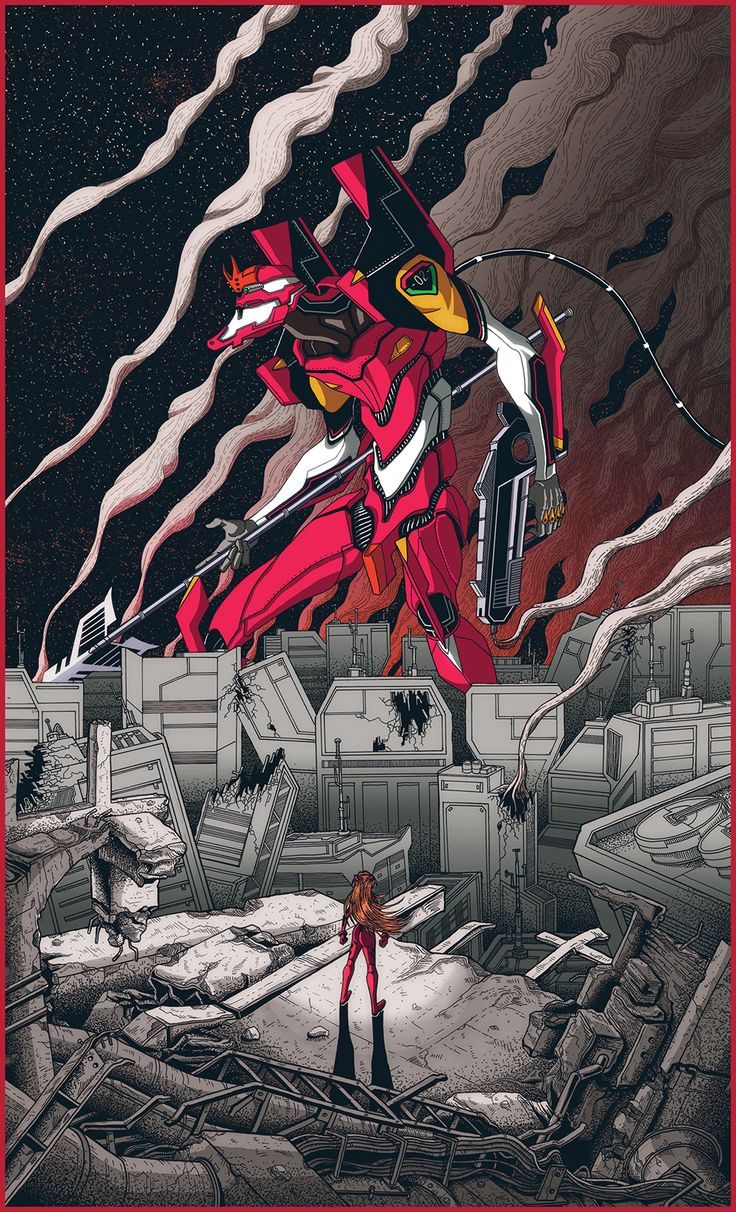 Neon Genesis Evangelion Tribute Poster - Created by Dairon Raphael You can…