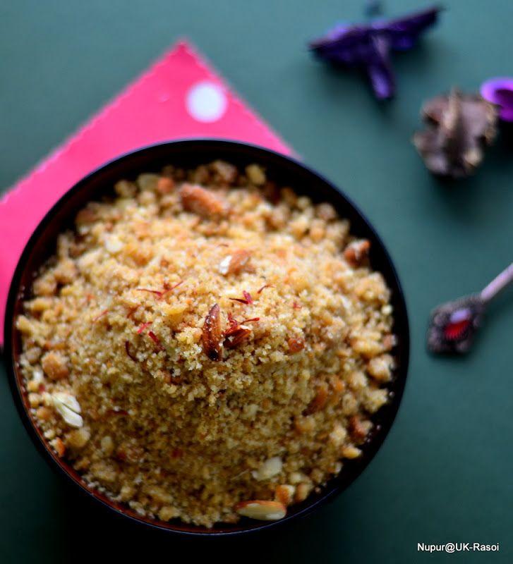 Daal Baati Choorma - Special Rajasthani sweet served in Traditional Thali