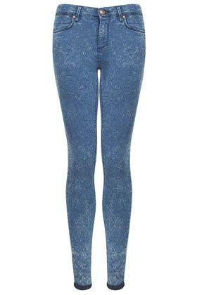 MOTO Blue Acid Leigh Jeans