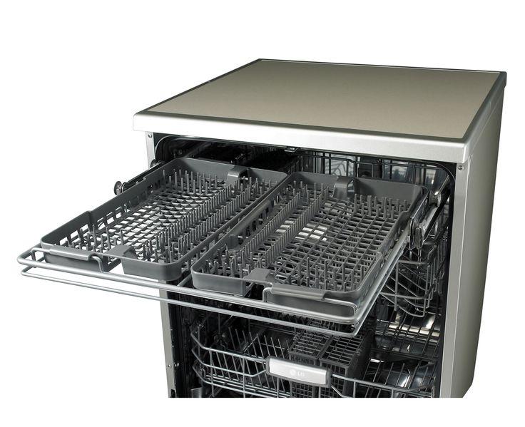 LG LD-1483T4 - 14 Place Anti-fingerprint Stainless Dishwasher with Smart Rack™ | LG Australia