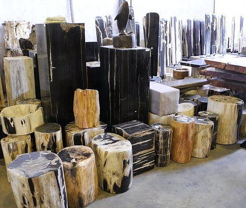 Petrified wood pedestal indogemstone products for Petrified wood furniture for sale