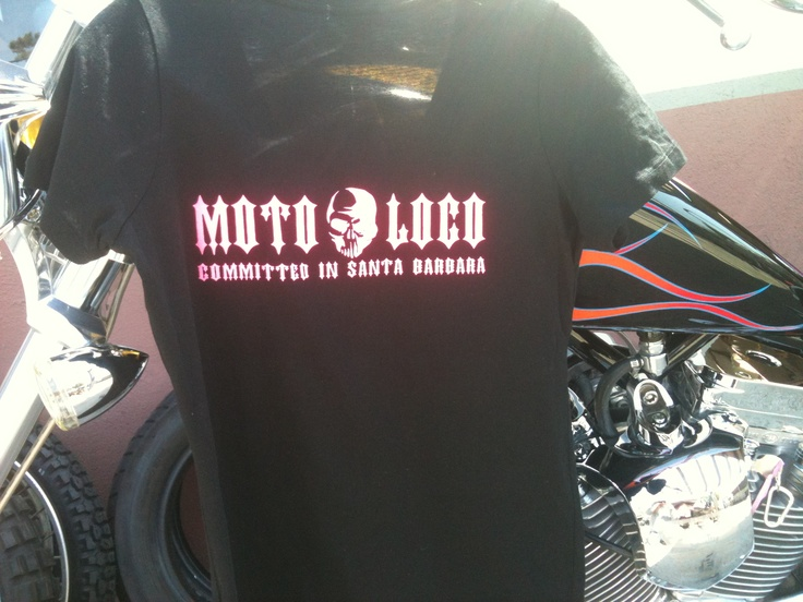 Moto Loco- Girl Tshirts  Black with neon pink Moto Loco on front and back. Only $20!