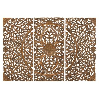 Wood Wall Art Plaque Set of 3 | Overstock.com Shopping - Great Deals on Accent Pieces