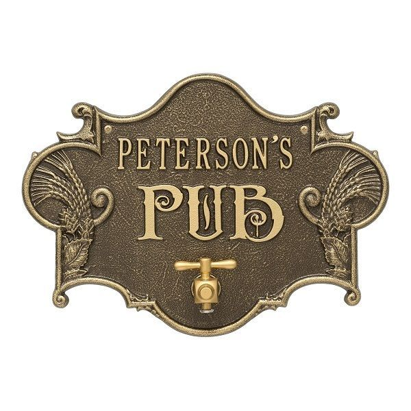 Personalized Hops & Barley Beer Opener Plaque Wall Sign - 7 Colors Man Cave Pub #Whitehall #Novelty