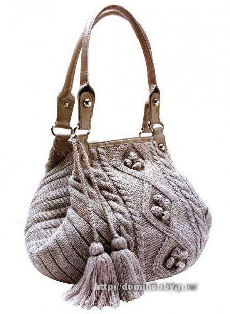This is Awesome! Knitting needles fashionable handbags