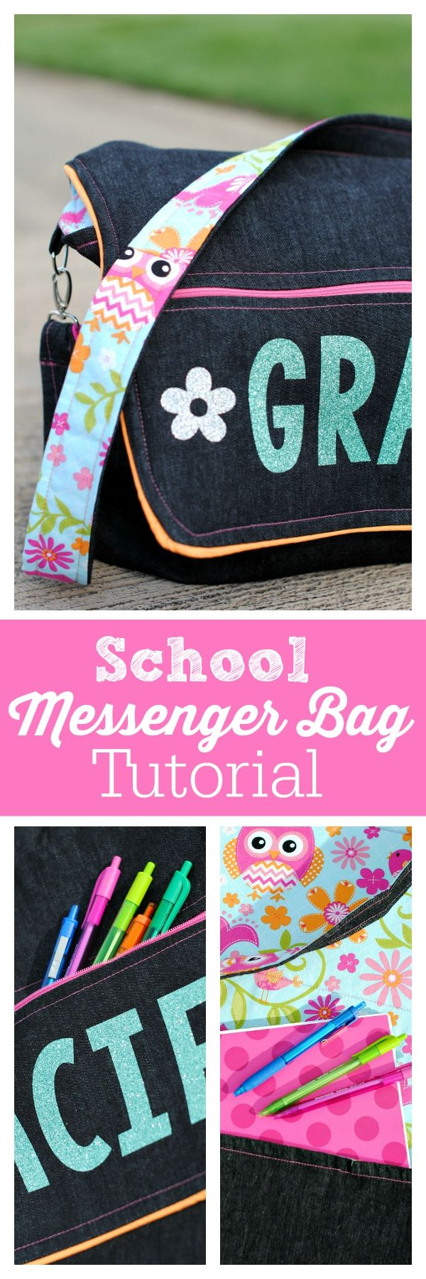 Messenger Bag Tutorial-Perfect for school!