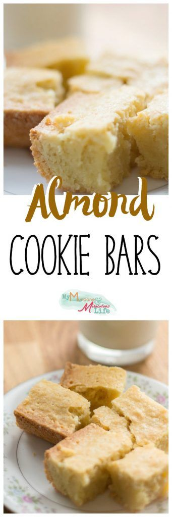 Almond Cookie Bar Recipe. A super quick dessert recipe that pairs well with Chinese and Asian food.