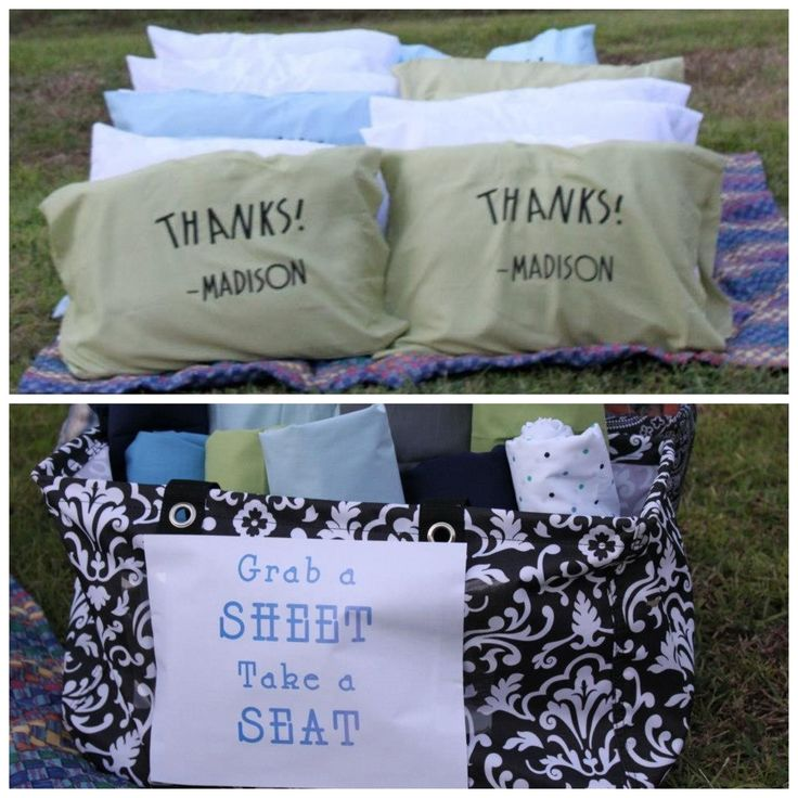Love the idea for a personalized pillow at a slumber party...but with the GUESTS' NAMES instead...who wants a pillow case with another kid's name on it?!?!