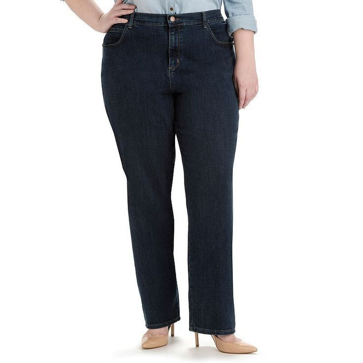 Plus size jeans in petite tube naked