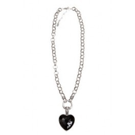 Beautiful necklace with a black heart from Lotta Design of Sweden