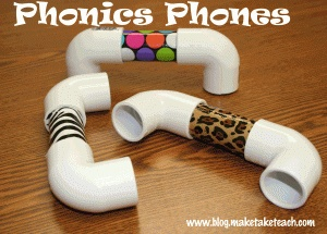 Make your own phonics phones for your small group intervention area. Step-by-step directions provided.