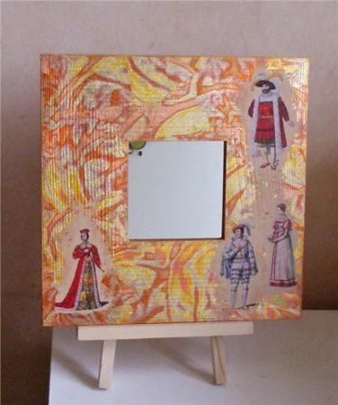 Зеркало «Весь мир — театр» http://dcpg.ru/mclasses/teatr/  decoupage art craft handmade home decor DIY do it yourself mirror tutorial
