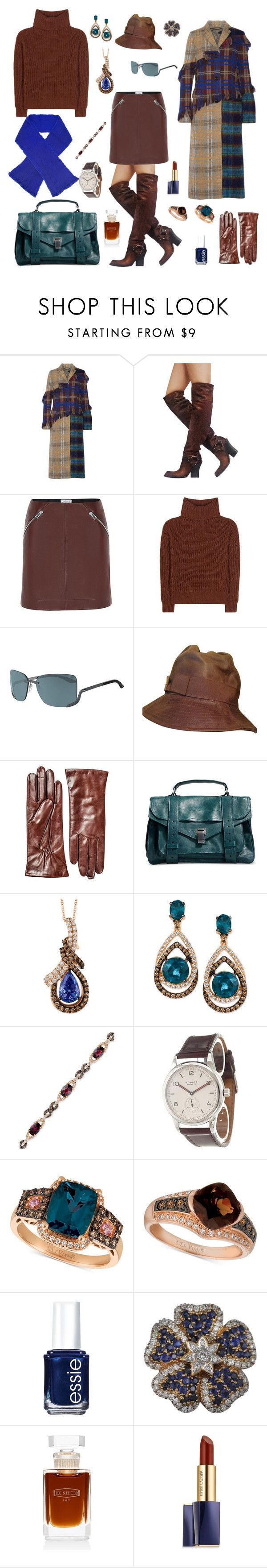 """""""starting from the overcoat"""" by harikleiatsirka ❤ liked on Polyvore featuring Acne Studios, Christian Dior, Loewe, Loro Piana, Silhouette, Hestra, Proenza Schouler, LE VIAN, Nomos and Essie"""