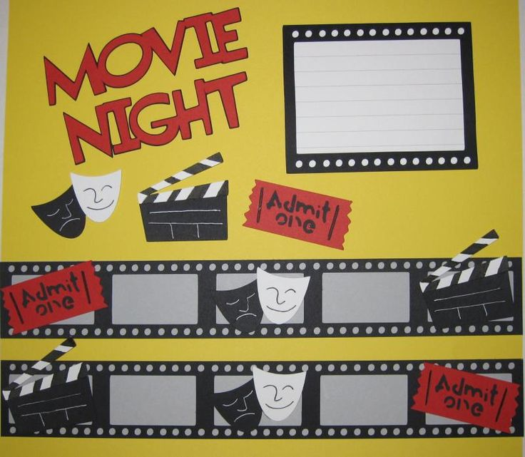 Movie Night / Theater Scrapbooking Page Layout Kit