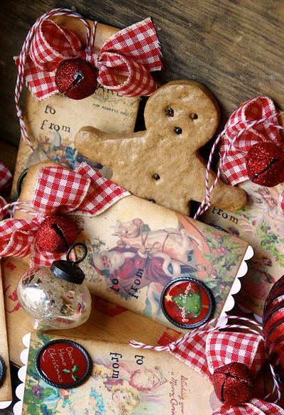 Downloadable Gorgeous Free Chistmas tags