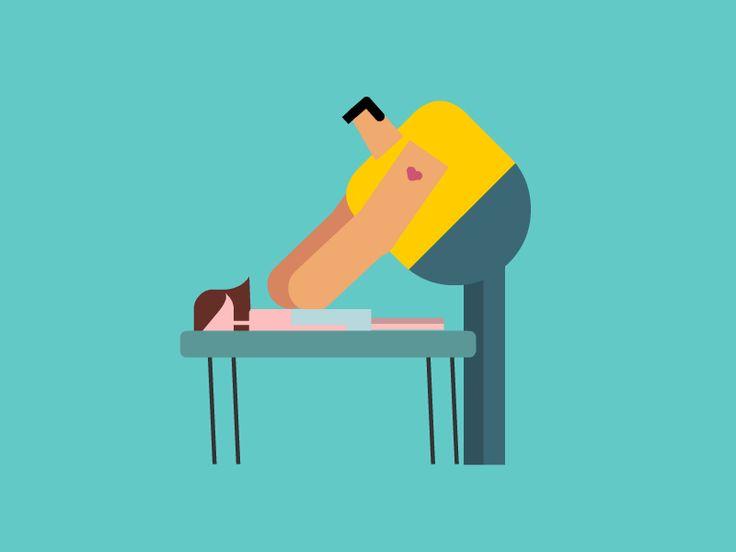 Massage_man_ loop #animation #gif