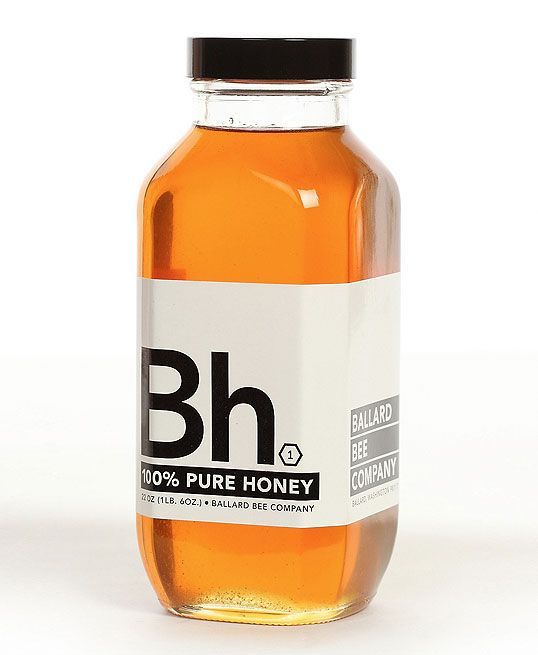 Effective: Graphic Design, Honey Packaging, Bees, Package Design, Packaging Design, Ballard Bee, Bottle