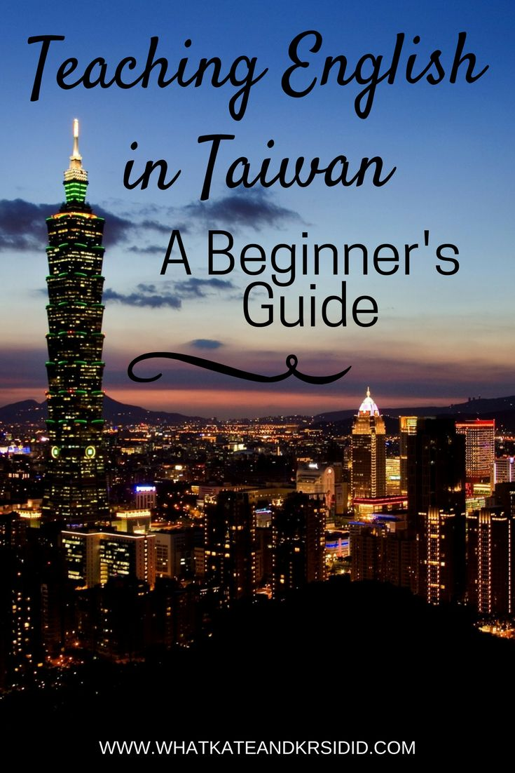 Teaching English in Taiwan TEFL Taipei