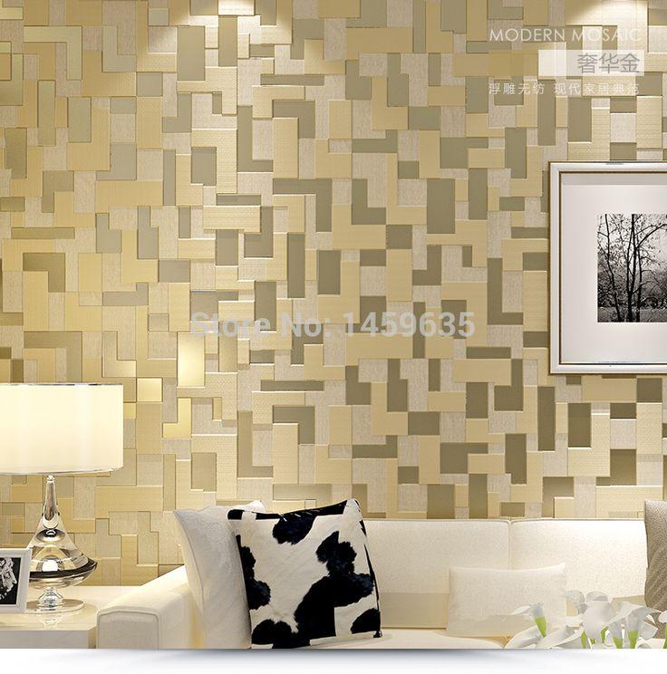 Modern 3d Stereoscopic Video Wallpaper Green Gray Living Room Wall Mosaic 053 10m Non Minimalist