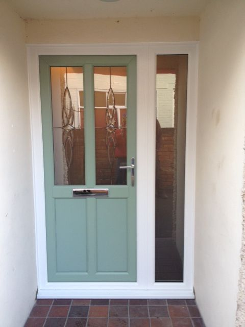 Upvc front door in chartwell green garden pinterest for Upvc front doors