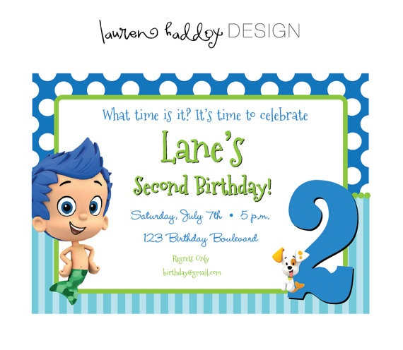 119 best bubble guppies images on pinterest | bubble guppies, Birthday invitations