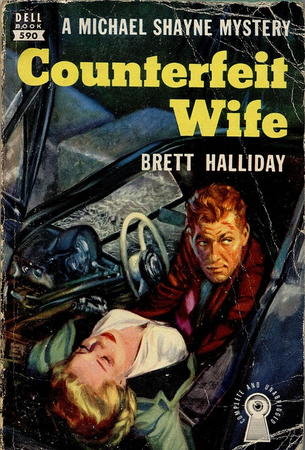 85 best heroes michael shayne images on pinterest pulp art counterfeit wife by brett halliday michael shayne private eye mystery pulp cover art man woman fandeluxe Document