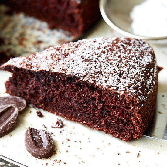 Chocolate Dump Cake: very easy to make with the ingredients on hand and has a very nice, balanced taste and moist interior.