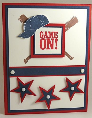 Just Baseball for 6 year old by Stamp Addict 77 - Cards and Paper Crafts at Splitcoaststampers