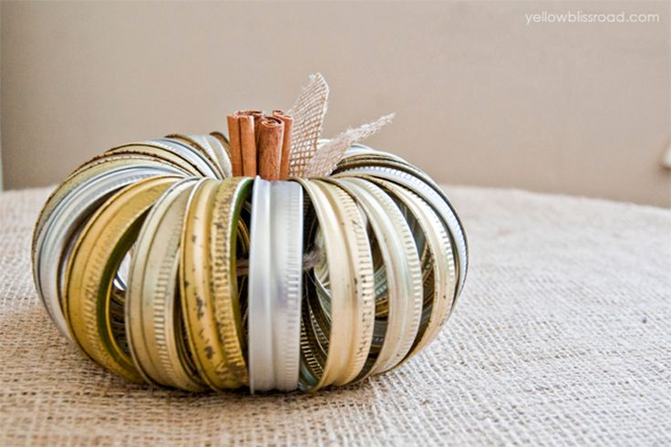 Canning Jar Ring Pumpkin | 9 Simple Fall DIY Home Decor Ideas