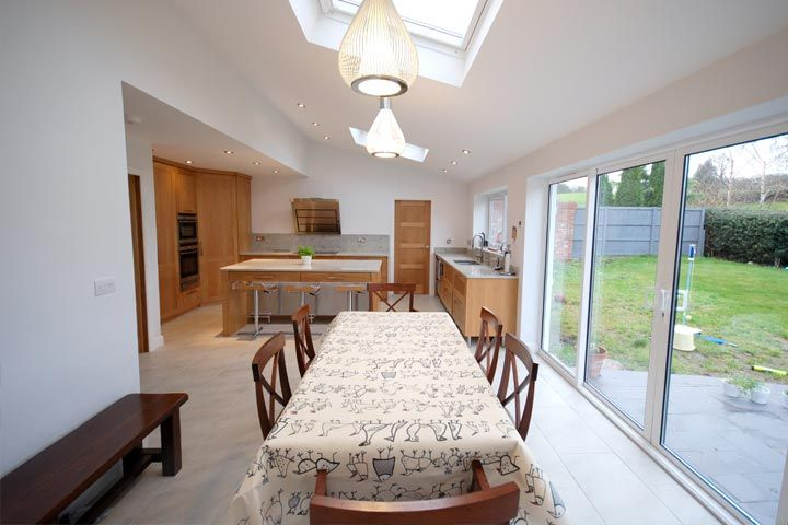 Family Room Extension with garden access in Denbighshire