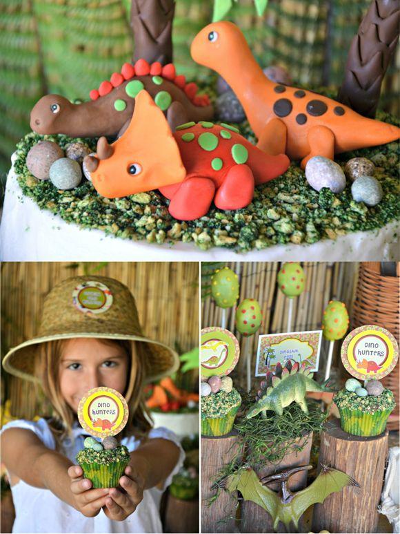 An AMAZING Dinosaur Adventure Birthday Party! by Bird's Party #dinosaur #birthday #party