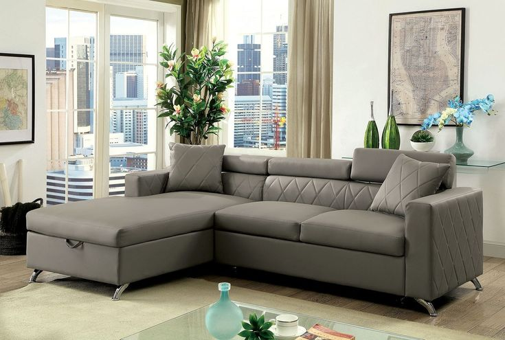 OCFurniture - Dayna CM6292 Gray Sectional Sofa with Pull Out Bed, $788.00 (https://www.ocfurniture.com/dayna-cm6292-gray-sectional-sofa-with-pull-out-bed/)