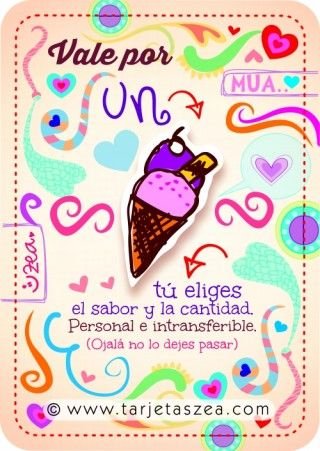 helado © ZEA www.tarjetaszea.com