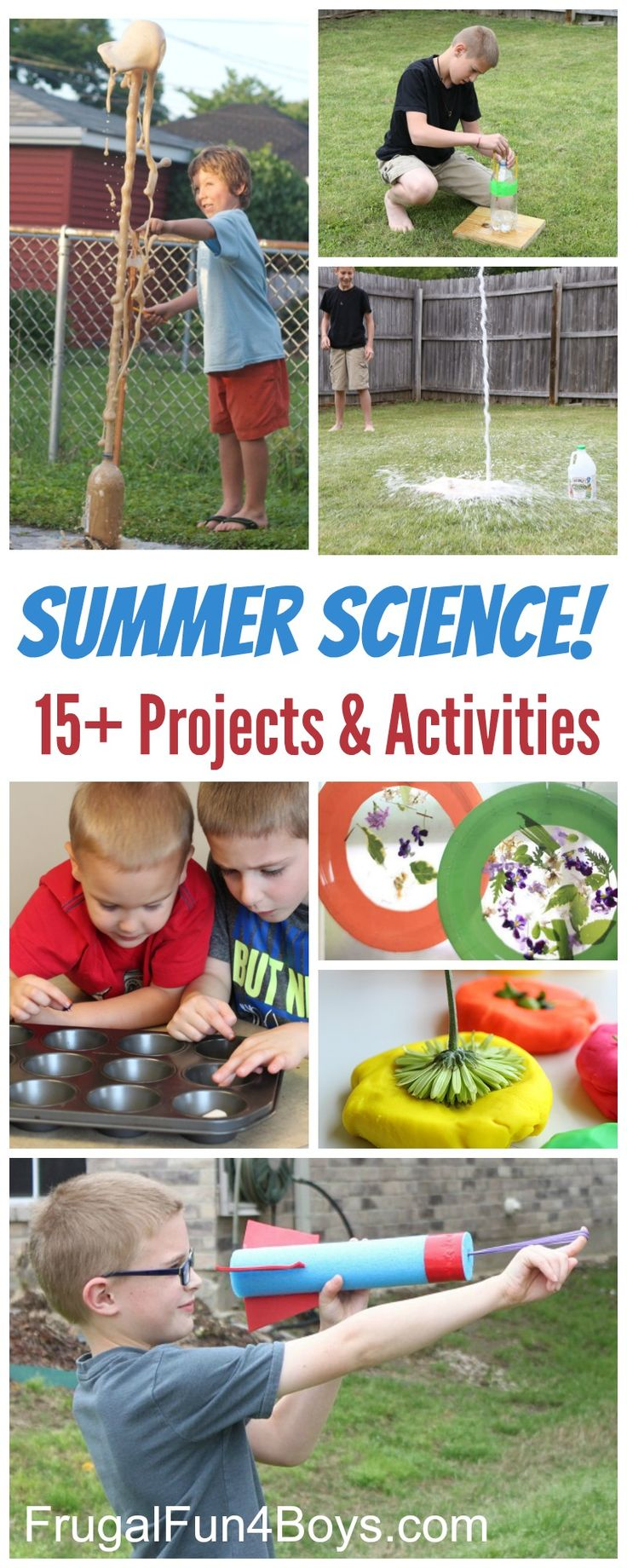 Summer Science Experiments and Activities for Kids!  Simple science demonstrations, experiments, and projects that are great to do in the summer.