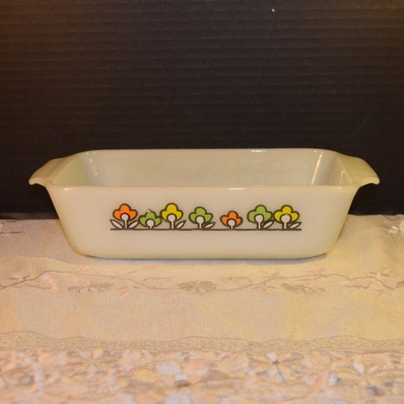 Anchor Hocking Loaf Pan Vintage by ShellysSelectSalvage on Etsy