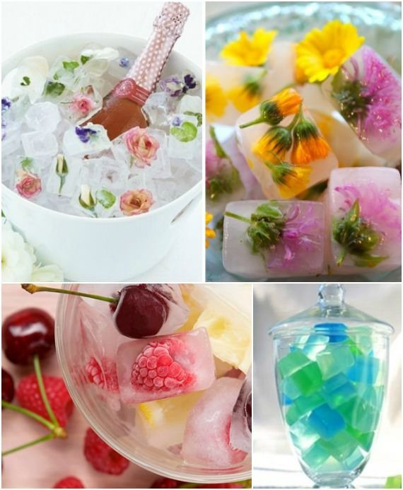Olha que dica incrível para transformar seus cubinhos de gelo! É só colocar uma fruta junto na forminha: além de bonito, o suco ainda ganha esse petisco depois quando derreter.